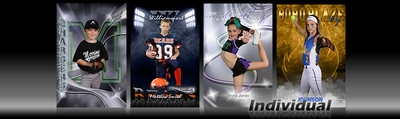 Individual Pose Digital Sports Photo Templates