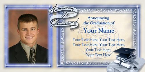Custom School Graduation Announcements