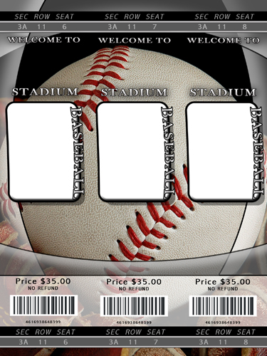 sports tickets template