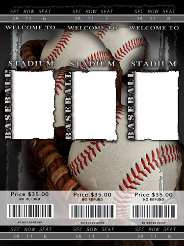 baseball ticket template - 28 images - baseball ticket themed ...