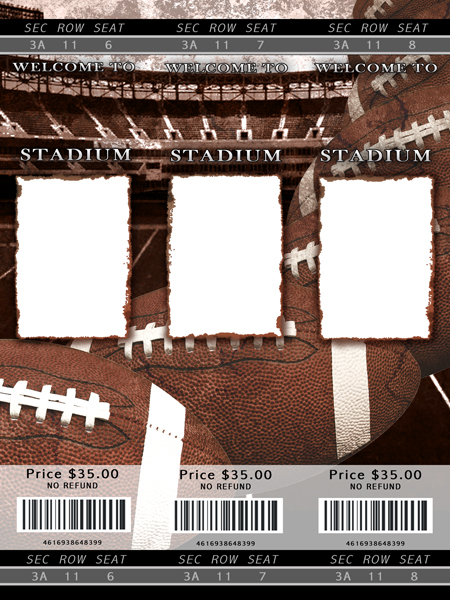 Blank Sports Ticket Template for PinterestShare on blank – Sports Ticket Template