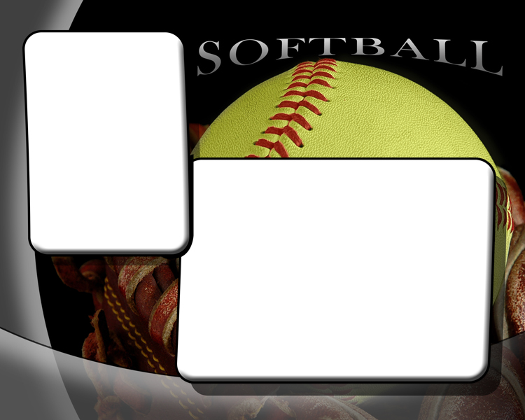 softball photo templates. Black Bedroom Furniture Sets. Home Design Ideas