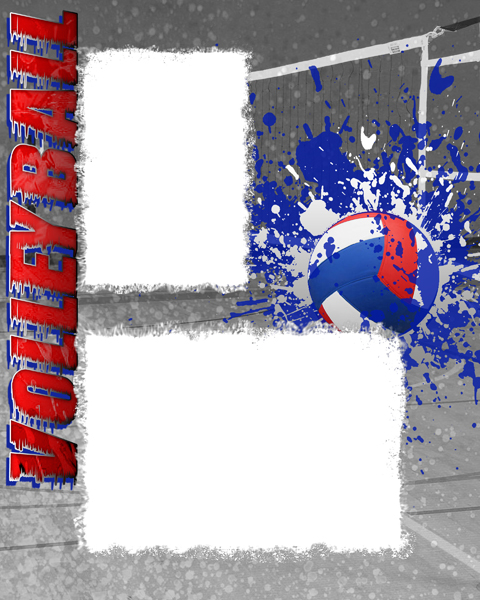 volleyball photo templates